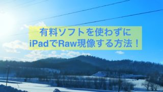 iPad raw現像